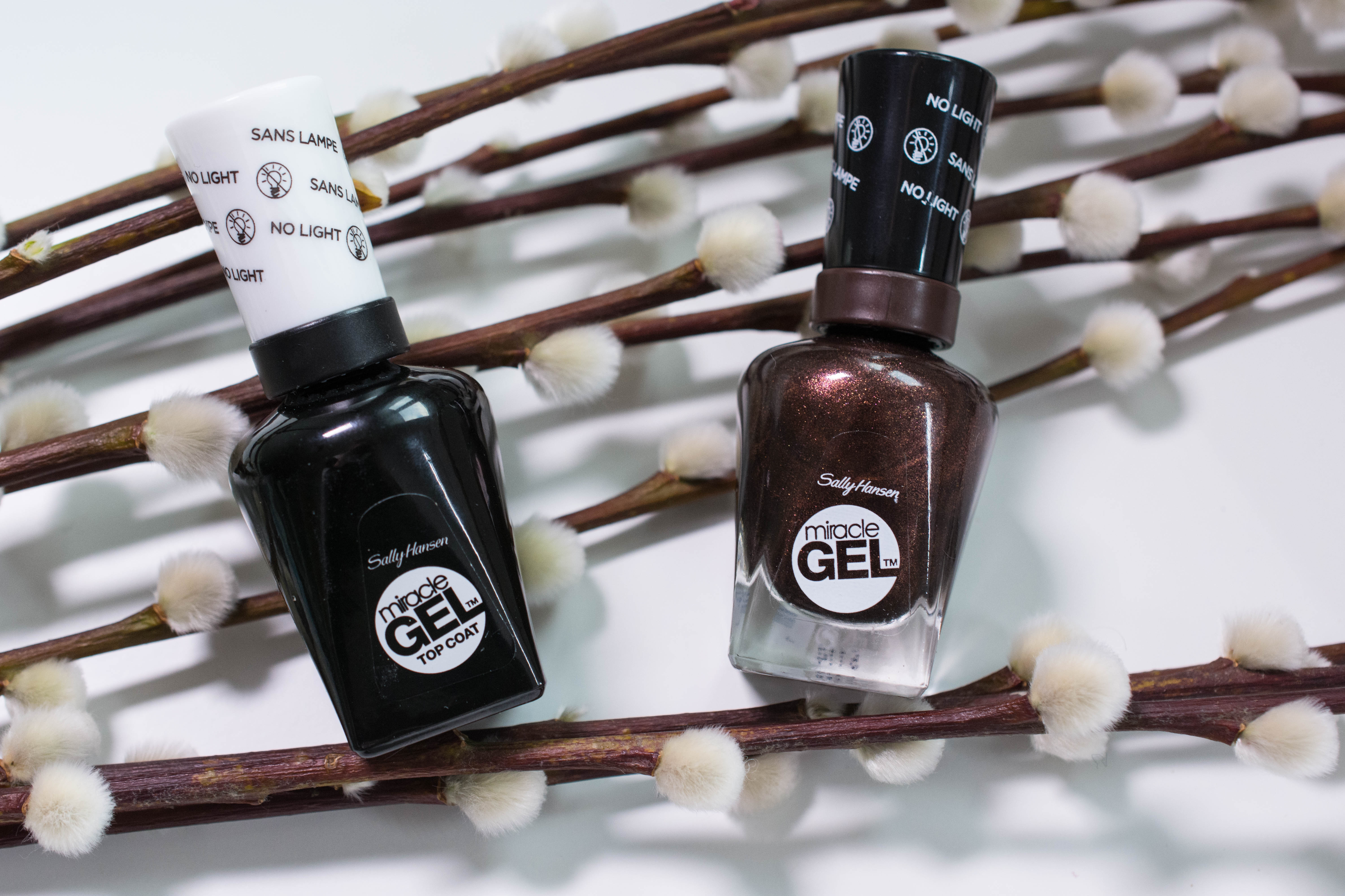 """Sally Hansen Miracle Gel """"Spice Age"""" and top coat"""