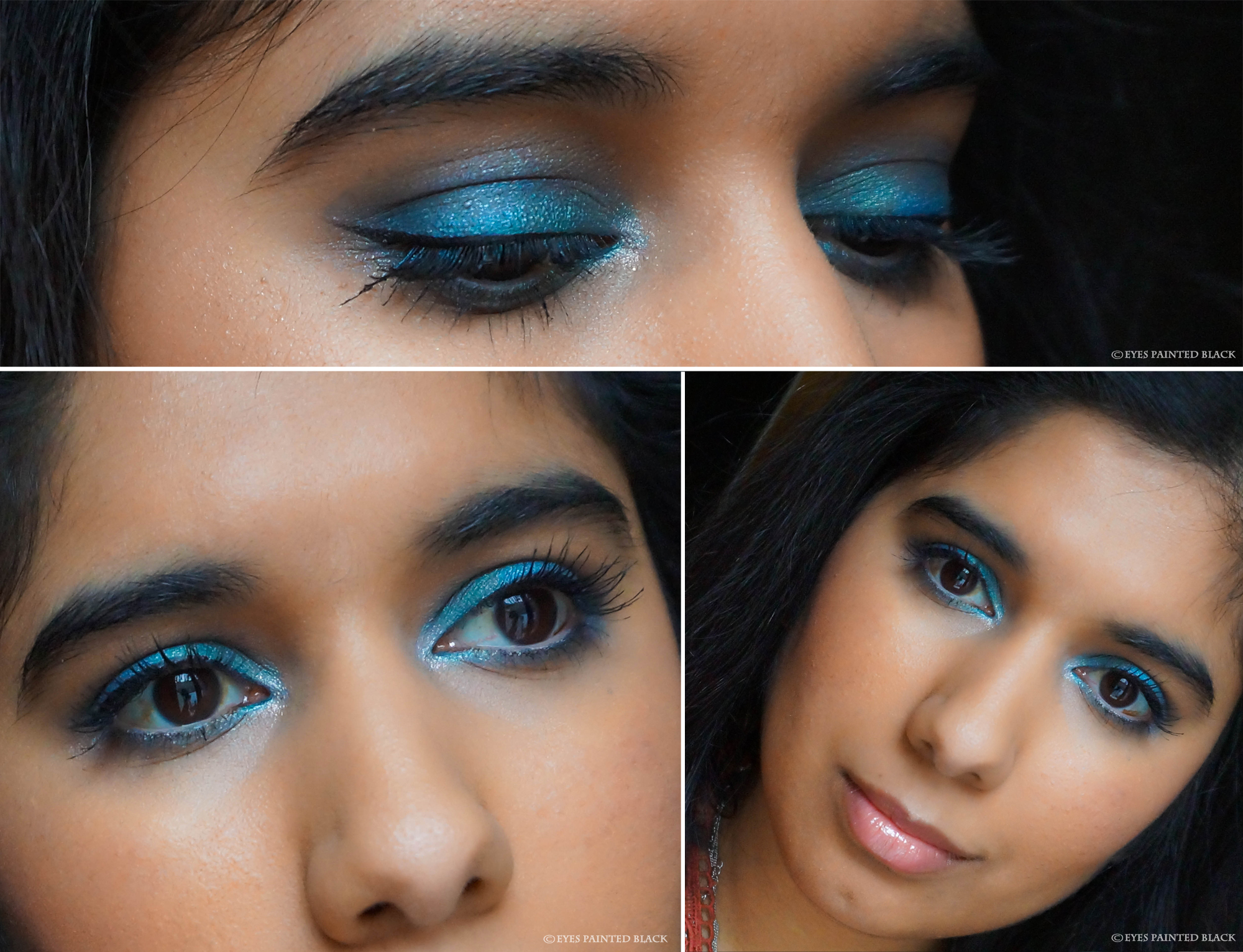 """Dolphin inspired look by Natasja from """"Eyes painted black"""""""