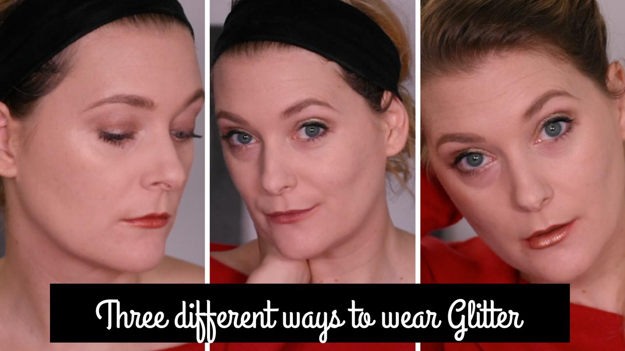 Three different ways to wear glitter
