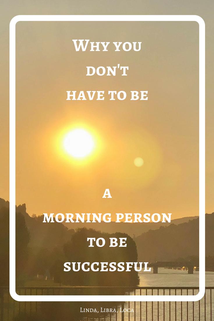 Morning person more successful
