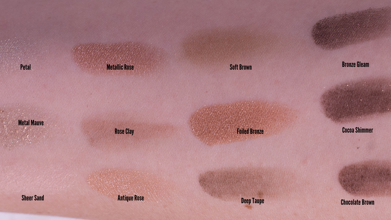 pixi Eyeshadow Palette Natural Beauty Swatches