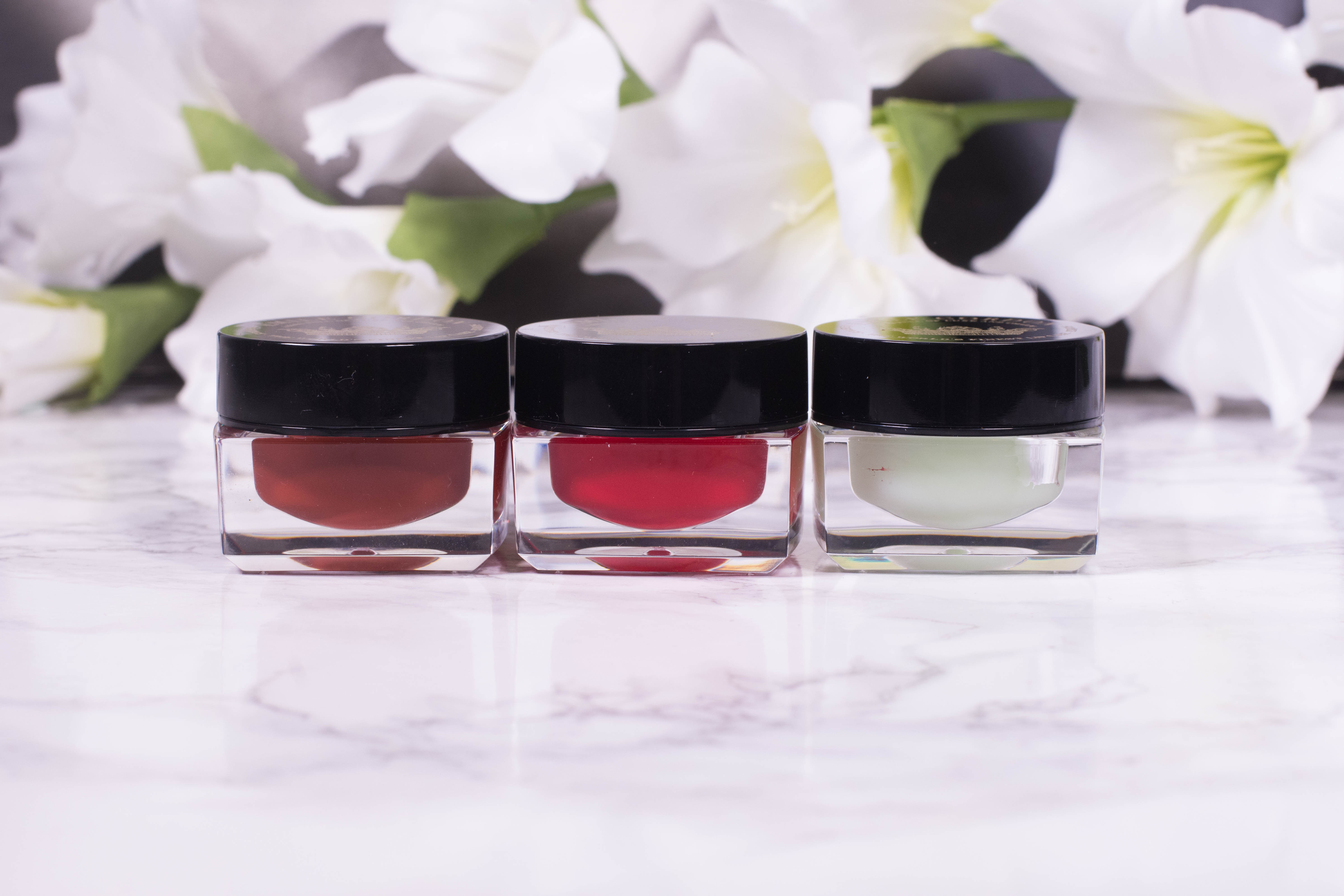 Emile Cordon Miracle Lip Balm in Madison Queen, Charlotte and Moroccan Mint