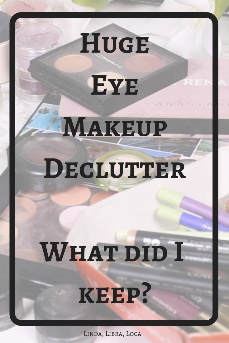 Huge eyeshadow makeup declutter