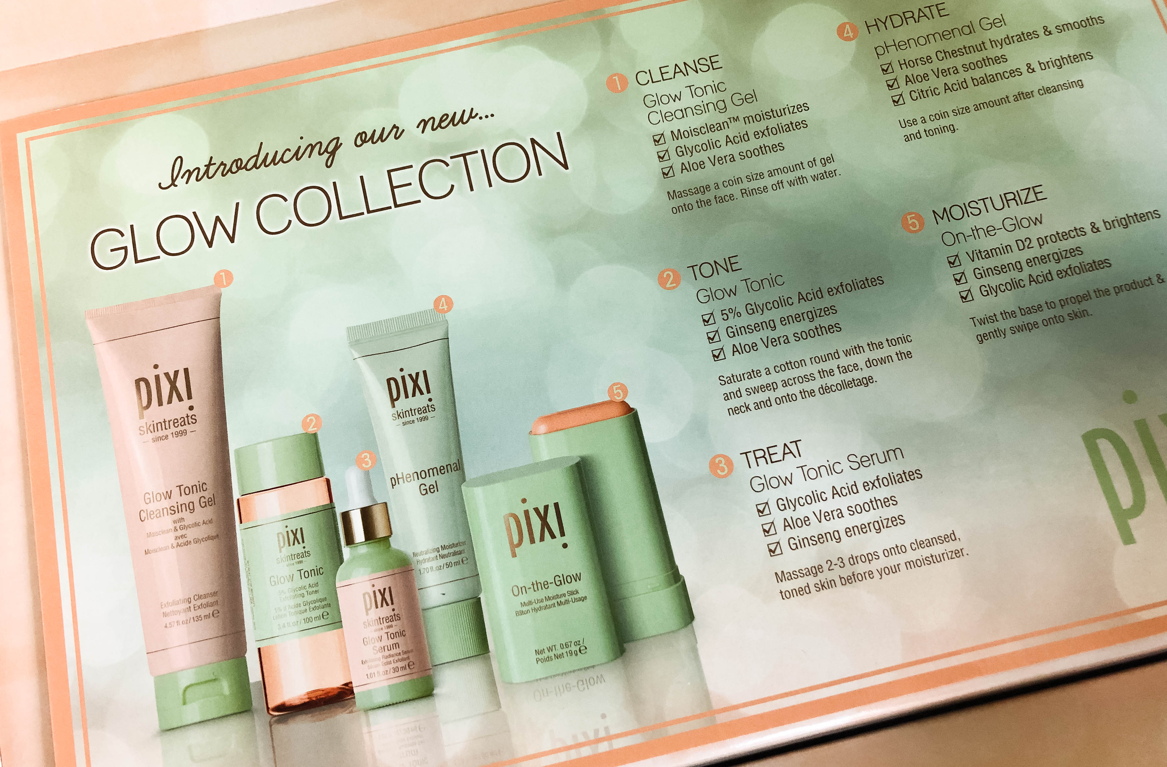 The complete Glow Collection with product description