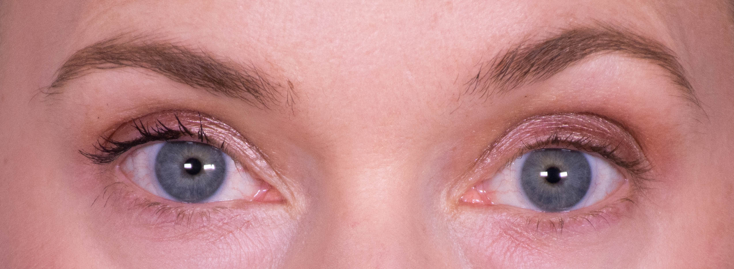 One layer of Lancome Definicils vs natural lashes