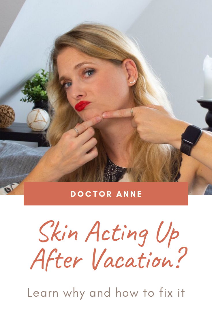 Is your skin causing trouble after your vacation? Here is why and what you can do to fix it.