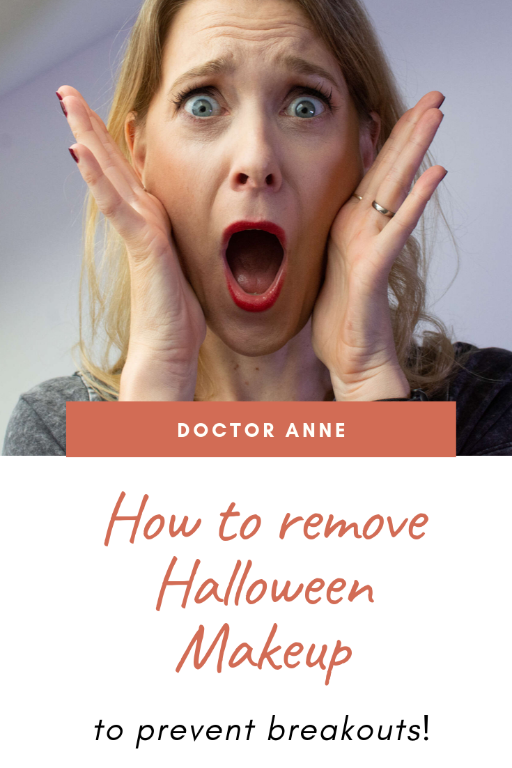 How to prevent breakouts after wearing Halloween Makeup