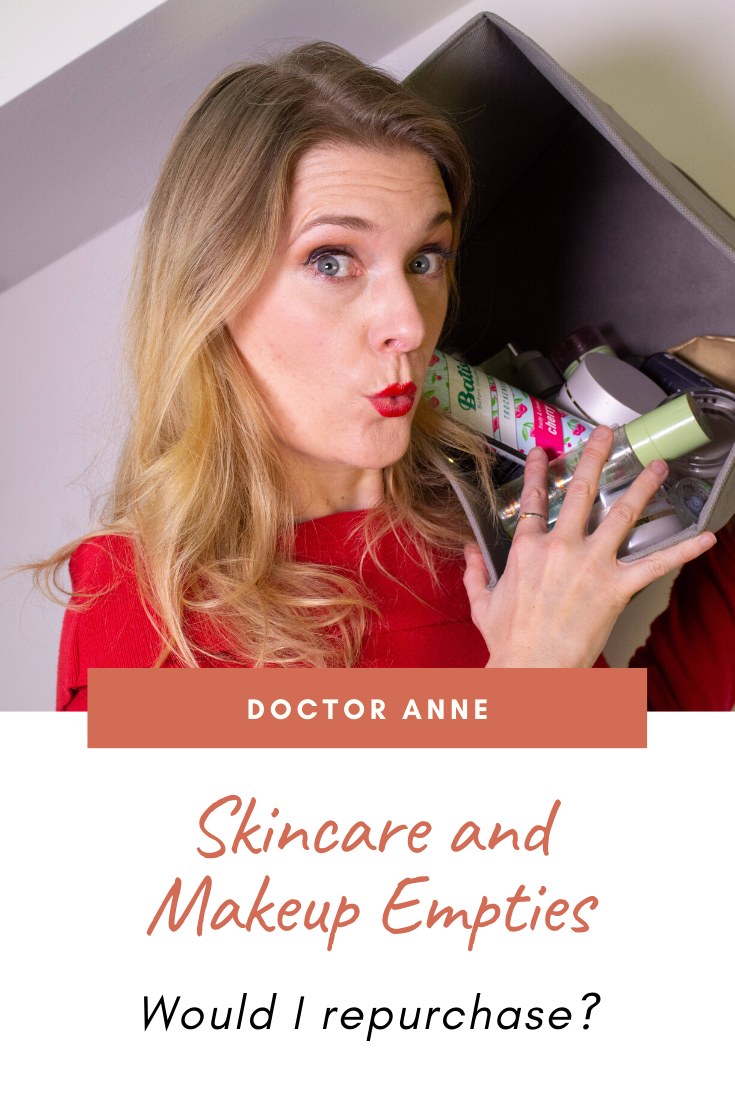 Skincare products I have finished - December Empties 2019