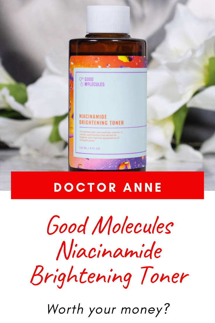 Full review of the Good Molecules Niacinamide Brightening Toner - claims, ingredients and effects on the skin.