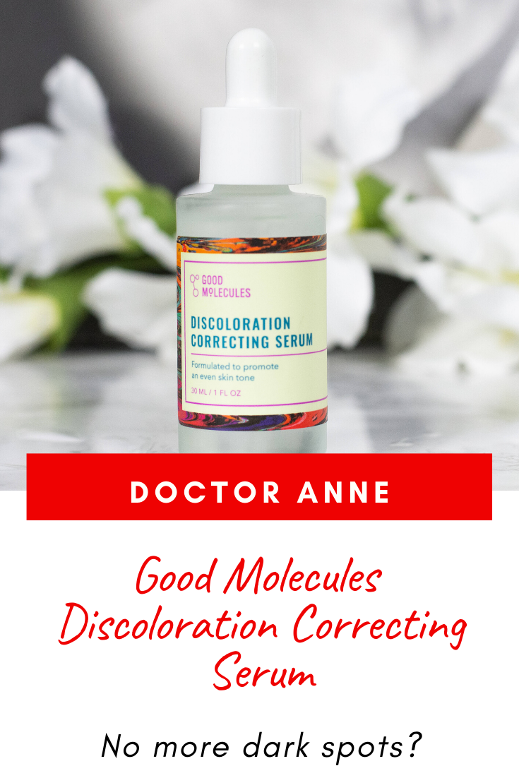 Good Molecules Discoloration Correcting Serum Review - the claims, the ingredients and the skin types best suited for.