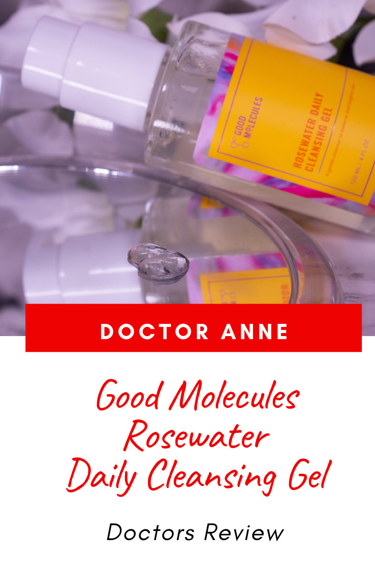 Good Molecules Rosewater Daily Cleansing Gel Review and the benefits of rosewater in skincare